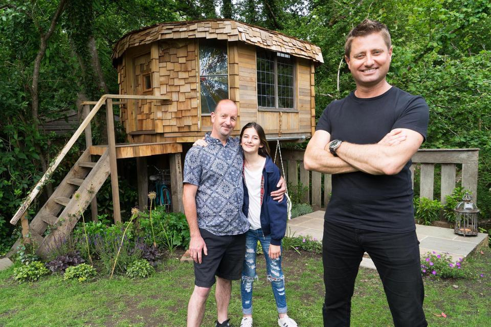 George Clarke with shed of the year 2017